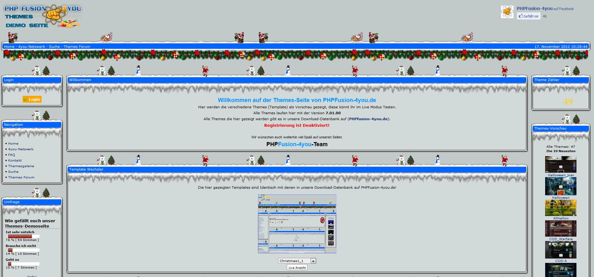 Themes für V7 > Holiday-Events > Weihnachten | Downloads - PHPFusion ...