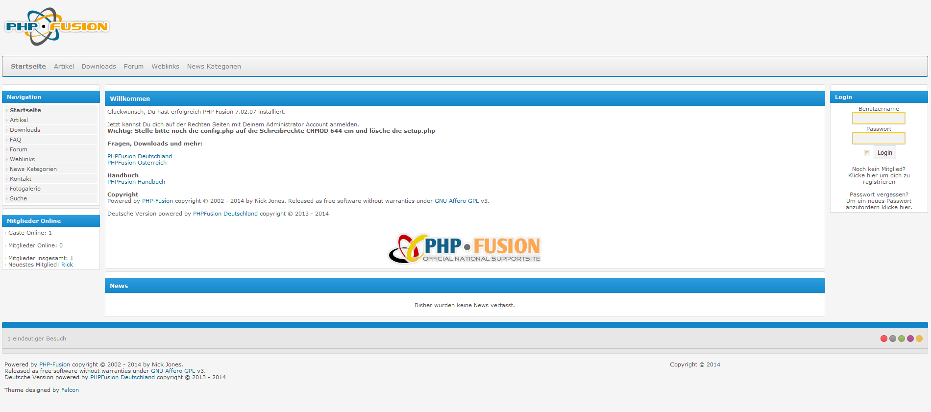 Screenshot PHP-Fusion