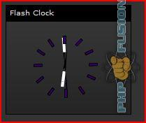 Screenshot Flash Uhr Panel