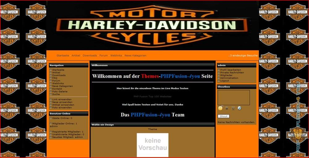 Screenshot Harley-Davidson